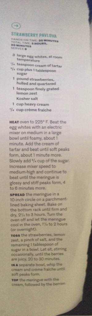 Strawberry Pavlova Recipe from Real Simple