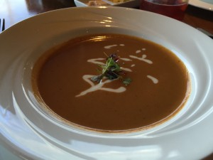 Yummy and decadent lobster bisque