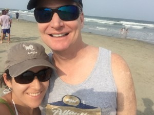 Nothing quite like a beach selfie with happy faces.