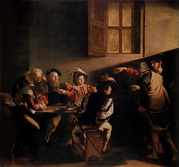 Caravaggio, The_Calling_of_Saint_Matthew_-_1599-1600