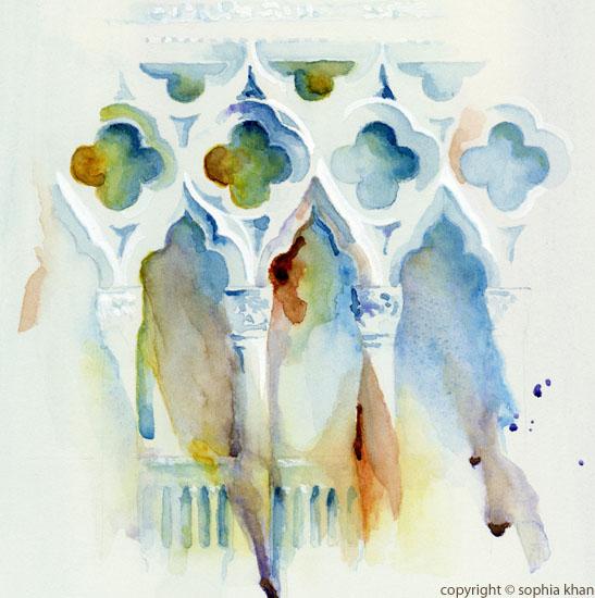 No1_Ca_d_Oro_Venice_II_watercolor_copyright_sophia_khan-1