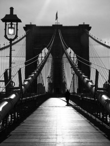 Frederic Bourret, facing-the-bridge