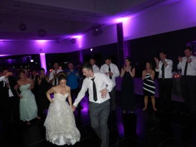 Mandy and Thomas, dancing in purple light