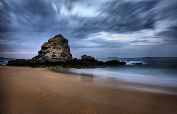 Mahbubur Rahman, rock on beach