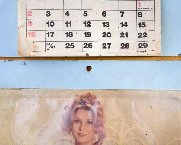 Kevin Miyazaki, calendar, blue wall, split