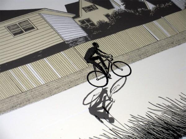 Justin Santora, riding detail