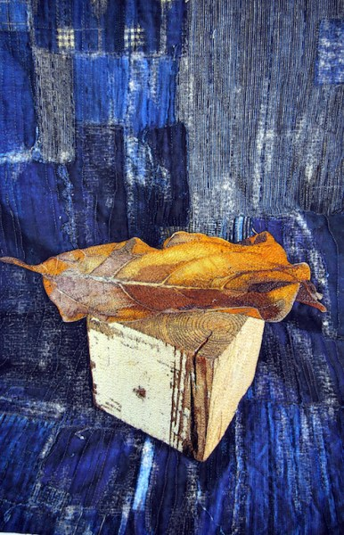 Still Life, Leaf and Wood Block, var. 2 full 300 pixels