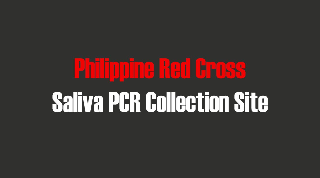 Philippine Red Cross Saliva PCR Collection Site