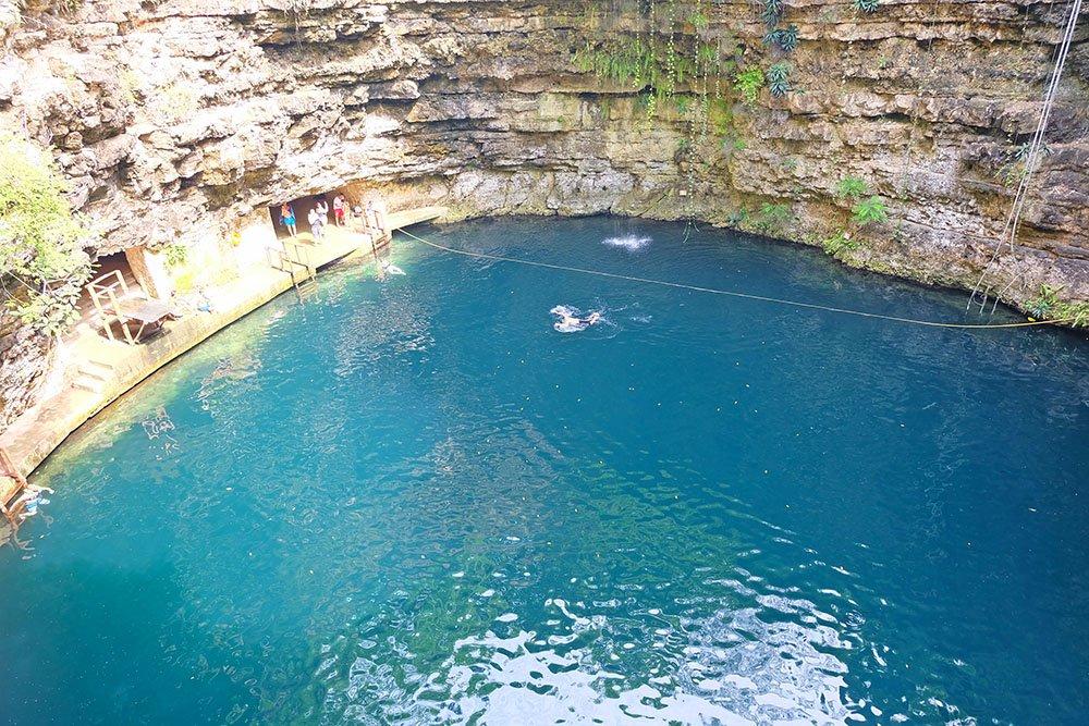 A big cenote near Chichen Itza
