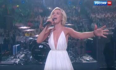 She sang her lovely song