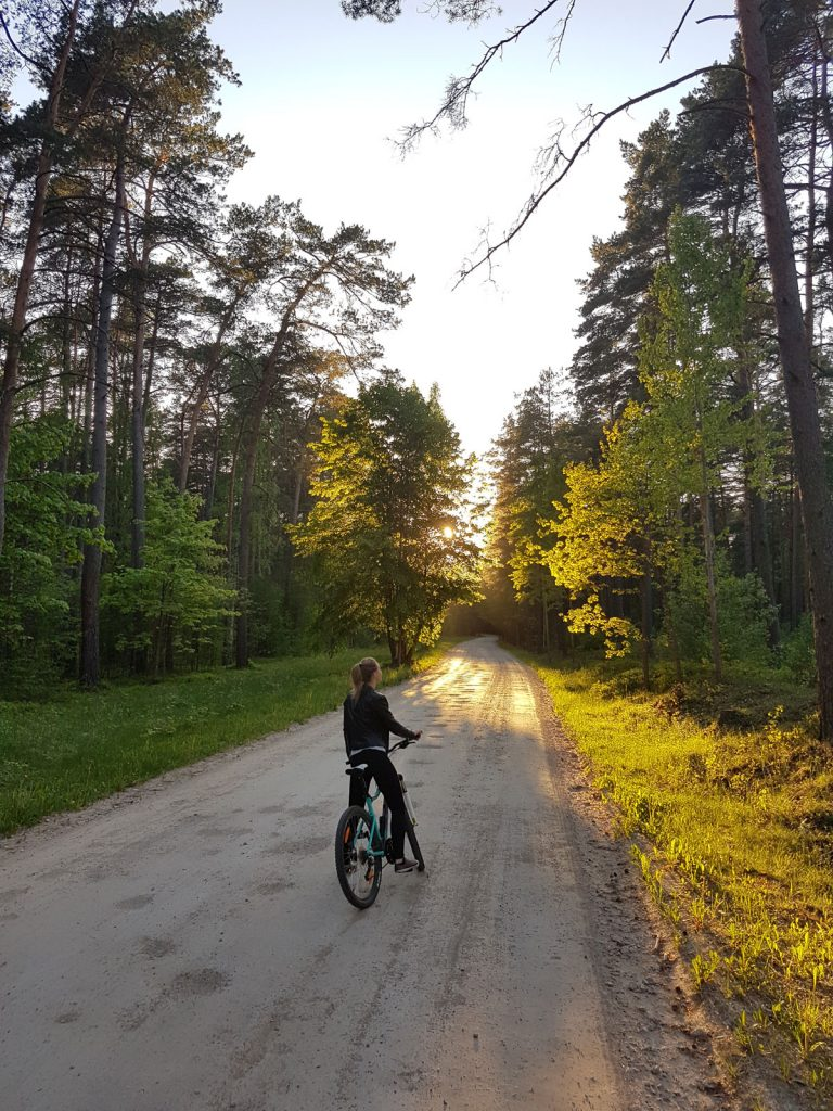 Traveling to Latvia _ cycling in forests