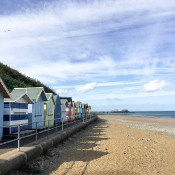 Colourful Beach Huts at Cromer