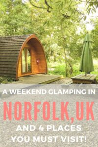 North Norfolk in the UK is simply stunning. Find out about Glamping in Deer's Glade and 4 stunning places you have to visit nearby