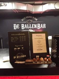 De Ballen Bar at Foodhallen selling Dutch Bitterballen to try