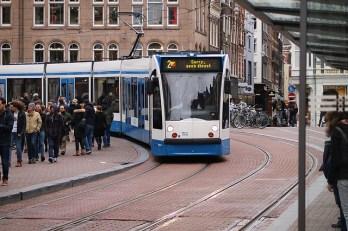 The fantasti Tram system in Amsterdam