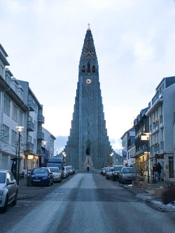 The magnificent Hallgrímskirkja Church in the centre of Reykjavik