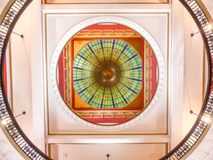 The ceiling in the Queen Victoria Building