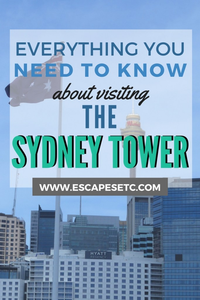 Visiting Sydney and want to get a birds-eye view? Then a trip to the highest building in the city, the Sydney Tower is the perfect one for you. Click here to find out everything you need to know and what to expect. #sydney #newsouthwales #nsw #sydneytower #westfield #viewpoints #birdseyeview