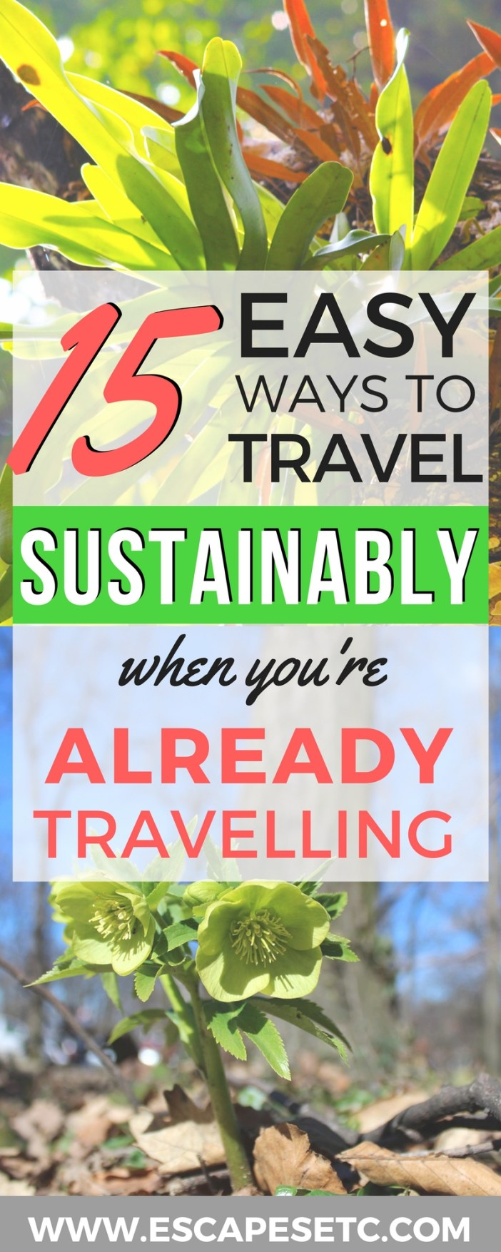 Do you want to learn how you can travel in a more eco-friendly way? Here are 15 easy sustainable travel tips that you can use even if you're already travelling. #sustainabletravel #ecotourism #traveltips #earthday