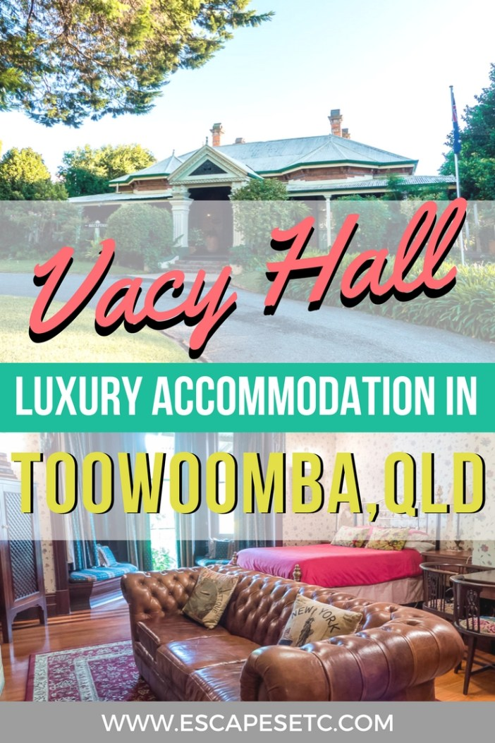 Dreaming of the perfect Queensland Escape? Vacy Hall in Toowoomba is the perfect luxury accommodation in Toowoomba for a weekend away. Check out my review here. #australia #queensland #toowoomba #luxuryaccommodation #visitdarlingdowns #weekendaway