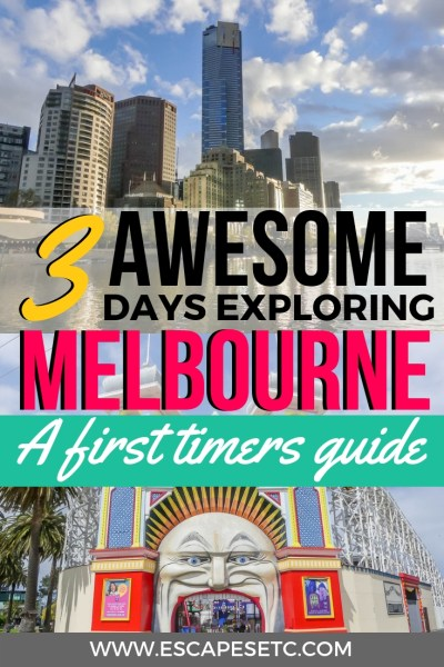 Looking for street art, quirkiness, loads of food and beautiful architecture? Melbourne is the perfect city for you! Here's my 3 day Melbourne itinerary, perfect for your first time visiting. #melbourne #australia #visitvictoria #streetart