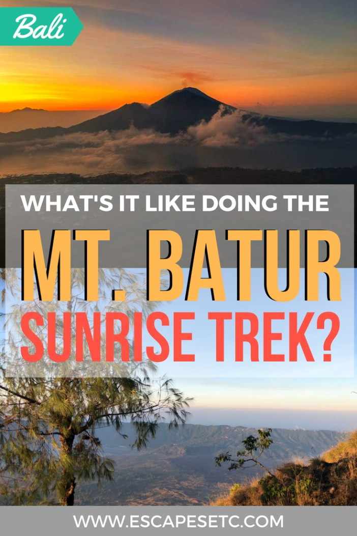 Are you visiting Bali and thinking of doing the Mt Batur sunrise trek? Click here to read about my experience and to get some top tips before you go. #bali #mtbatur #ubud #visitubud #visitbali