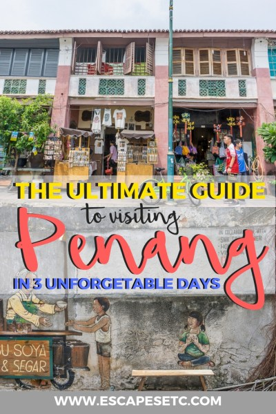 Penang is one of those places that you have to visit if you're in Malaysia! Full of street art, food and tonnes of culture, there's loads to see. Here's my 3 day Penang itinerary that will leave you planning your return trip! #penang #georgetown #malaysia #penangitinerary