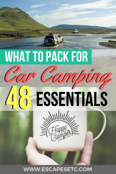 Turning your car into a camper? Being able to sleep in your car is the ultimate way to get roadtrip freedom! Here's everything you need to pack for car camping to have the best experience! #carcamping #bedincar #roadtripaustralia #australiaroadtrip
