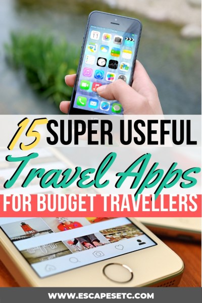 Are you planning a big trip? Your phone is such an important item to have with you and if you have the right apps, can help you in so many ways, especially to keep to your budget. Here are 15 essential travel apps that will make travelling that little bit easier! #travelapps #travelplanningtips #traveltips #besttravelapps #budgettraveltips