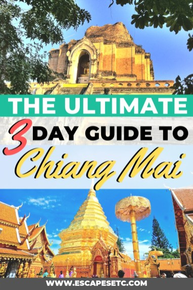 Planning a trip to Chiang Mai and don't know where to start? I've got you covered! In my 3 day Chaing Mai itinerary I'll take you through everything you need to know about how to get to Chaing Mai, how to get around Chiang Mai and my ultimate itinerary for exploring Chiang Mai in 3 days. Click here to read it all! #chiangmai #chaingmaithailnd #chaignmaiitinerary #chaingmaiguide #3daysinchiangmai #norththailand