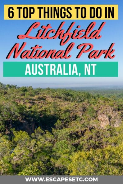 Less than 2 hours from Darwin is the incredible Litchfield National Park. Full of waterfalls, swimming holes and fantastic walks, it's the perfect place to go for a road trip. Here are 6 awesome things to do in Litchfield National Park and a guide to visiting. #litchfield #northernterritory #australia #backpackingaustralia #tourismtopend #darwin #nationalparksaustralia