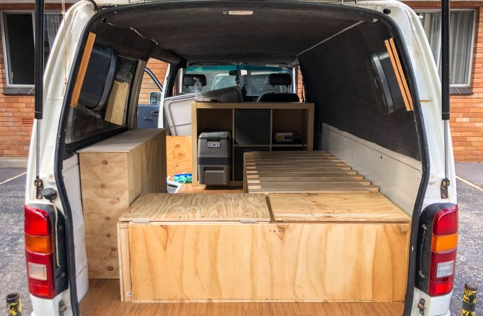 How to build a pull out campervan sofa bed