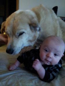 Nera Belle kept a close eye on little Remi