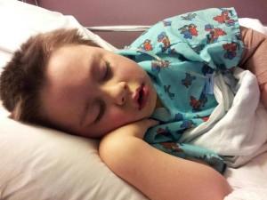 Kaden right after surgery.