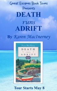 DEATH RUNS ADRIFT SMALL BANNER