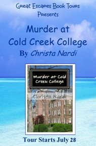 MURDER AT COLD CREEK COLLEGE SMALL BANNER