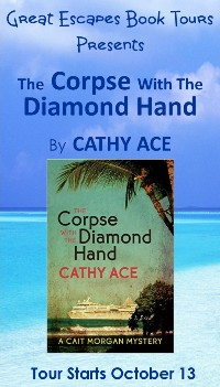 CORPSE DIAMOND HAND SMALL BANNER