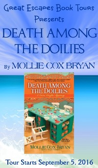 DEATH AMONG THE DOILIES small banner