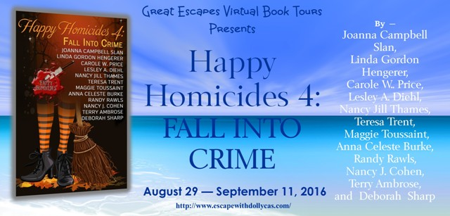 HAPPY HOMICIDES fall into crime large banner640