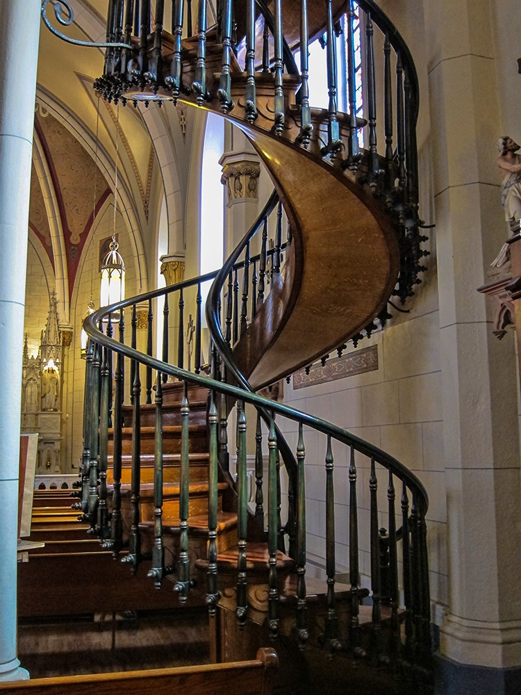 Loretto Chapel Church The Famous Spiral Staircase Santa Fe   Stairs Of Loretto Chapel