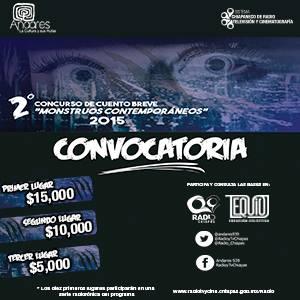 "CONVOCATORIA 2o. CONCURSO DE CUENTO ""MONSTRUOS CONTEMPORÁNEOS"""