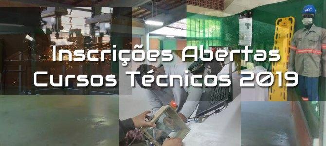 Inscrições para os Cursos Técnicos – 1ºSem/2019(INSCRIÇÕES ENCERRADAS!!)