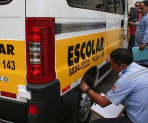 Vistoria de transporte escolar em Santos será realizada entre os dias 9 e 30 de setembro