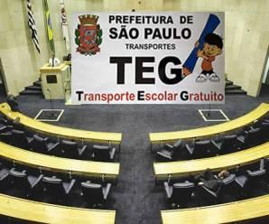 Audiência pública sobre o transporte escolar em geral e o TEG na Câmara de SP em 24/Ago