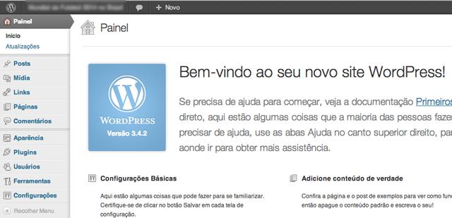 painel wordpress