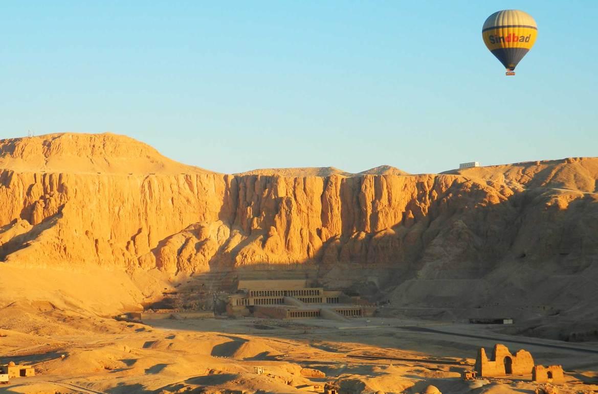 Fotos de viagem - Voo de balão sobre o Vale dos Reis, Luxor (Egito)