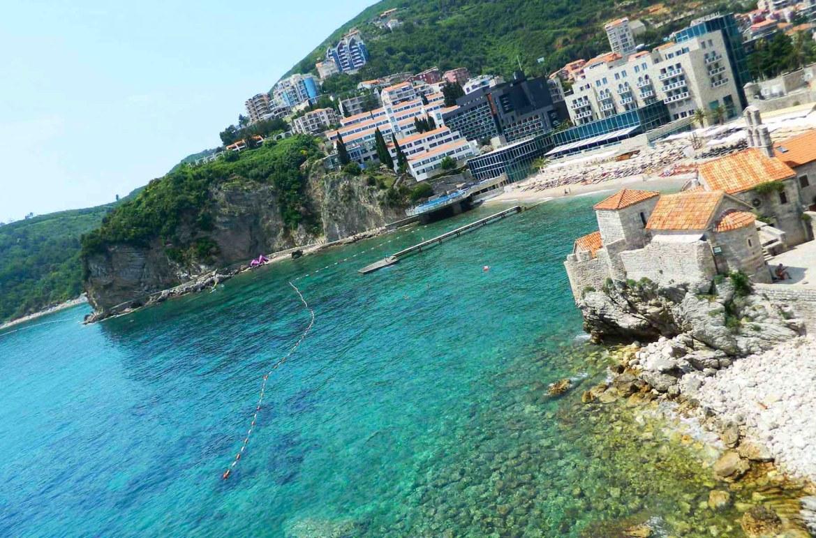 Praias mais lindas do mundo - Praia principal de Budva (Montenegro)