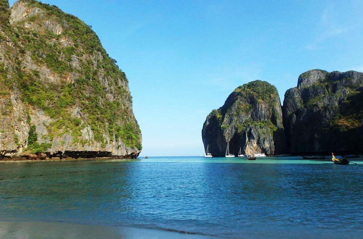 Praias mais lindas do mundo - Maya Bay, na Ilha de Phi Phi Lee (Tailândia)