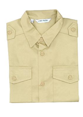 Camisa beje Escoteiros Tam. 34 ao 50