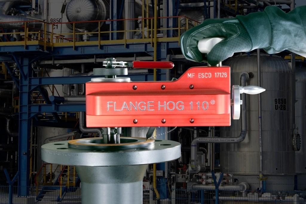 Flange facer, flange facing, re-facing flanges, reconditioning rusty, scarred or worn flange gasket seats